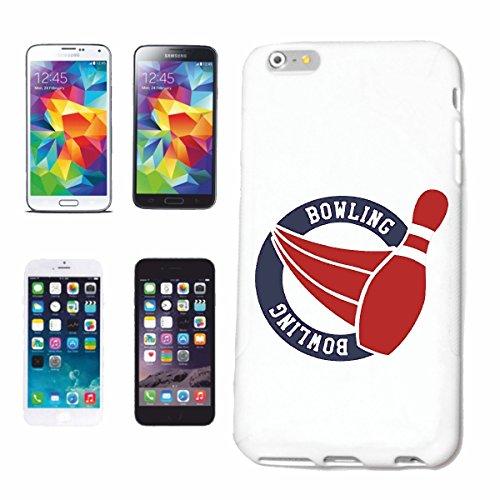"""cas de téléphone iPhone 7S """"Bowling skittles BOWLING BALL EVIL SMILEY CONE SOIR BOWLING SOIRÉE BOWLING DU TOURNOI"""" Hard Case Cover Téléphone Covers Smart Cover pour Apple iPhone en blanc"""