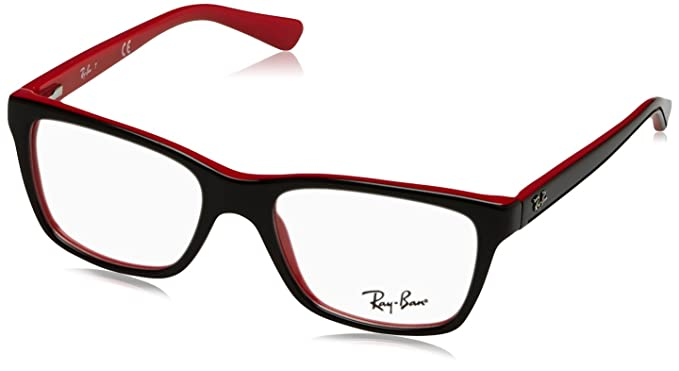 294fd9505c2 Amazon.com  Optical frame Ray Ban Acetate Black - Red (RY1536 3573 ...