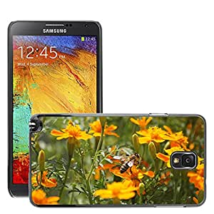 Etui Housse Coque de Protection Cover Rigide pour // M00114085 Bee Animales Naturaleza // Samsung Galaxy Note 3 III N9000 N9002 N9005