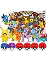 6Pcs / SetPokemonBall Leksaker Pikachu Charizard Action Figure Model Elf BollenPokeballOmvandlings Toy BarnFödelsedagGift