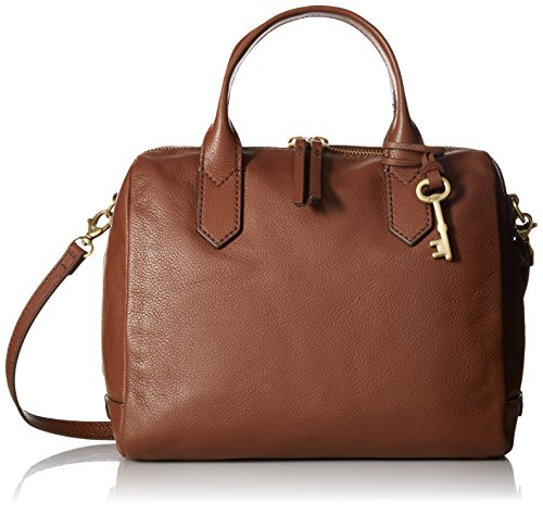 Fossil Fiona Satchel Handbag, Medium Brown by Fossil