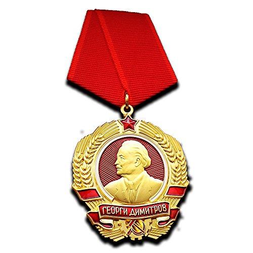 Military Medal Order of Georgi Dimitrov Bulgarian Medal Highest Award PRB Repro