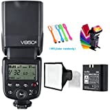 Godox V850II GN60 2.4G 1/8000s High-Speed Sync Camera Flash Speedlite Speedlight light & 2000mAh Li-ion Battery Features 1.5s recycle time and 650 Full Power Pops for Canon Nikon Pentax Olympas