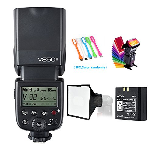 (Godox V850II GN60 2.4G 1/8000s High-Speed Sync Camera Flash Speedlite Speedlight Light & 2000mAh Li-ion Battery,1.5s Recycle time & 650 Full Power Compatible for Canon Nikon Pentax Olympus Fuji etc)