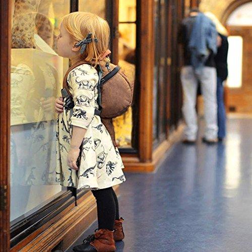 Mini honey Infant Baby Girls Summer Playwear Sun Dresses One-Piece Dress With Dinosaurs Print (3-6 Months, Beige) by Mini honey (Image #1)