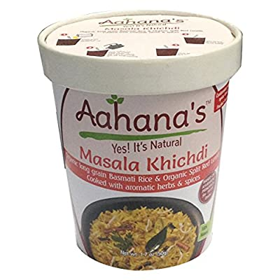 Aahana's Vegan Masala Khichdi/Kitchari - Mix of Organic Basmati Rice & Organic Red Lentils (Ayurvedic Diet) Gluten Free