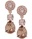 Givenchy Rose Gold-Tone Pink Crystal Drop Earrings