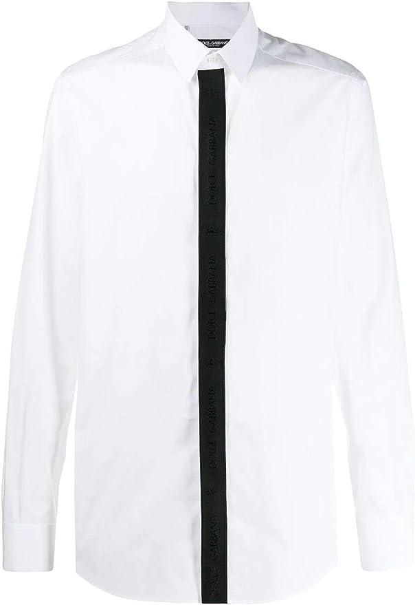 Dolce E Gabbana Camisa Hombre G5GL8TFU5K9W0800 algodón Blanco Bianco Talla de Marca 40 cm: Amazon.es: Ropa y accesorios