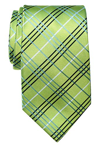 (Retreez Tartan Check Styles Woven Microfiber Men's Tie Necktie - Green)