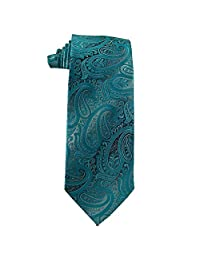 Extra Long Mens Malibu Turquoise and Silver Paisley
