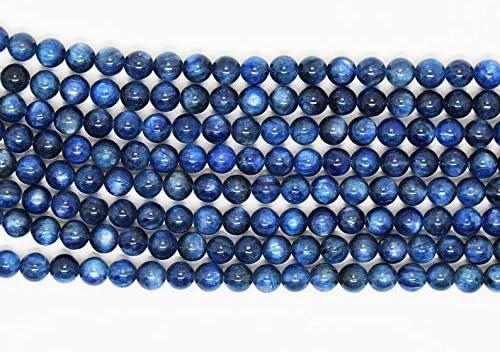 15 Strand 6 mm Kyanite Perles Rondes Kyanite Rondes ordinaires de Perles Jaipur Gems Mart AAA Naturelles 1 Strand Bleu Cyanite Pierres pr/écieuses Perles pour la Prise de Bijoux