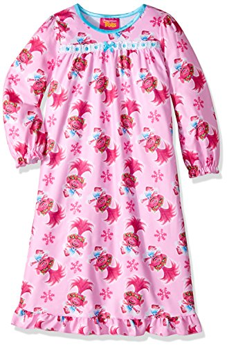 Trolls Girls' Little Granny Nightgown, Baby Pink, ()