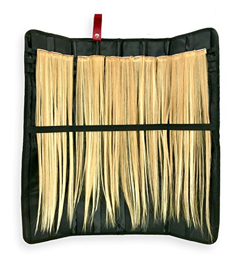Hair Extension Storage Organizer - Holder for Human Hair Extensions, Clip In Extensions, Feather Hair Pieces, Clips and Weave Accessories to Hang in Closet, Display, or Travel in Style - Feather Clip In Hair Extension
