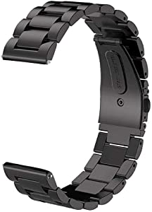 V-MORO Metal Strap for Samsung Galaxy Watch 3 Bands 45mm/Galaxy Watch 46mm Band/Gear S3 Strap