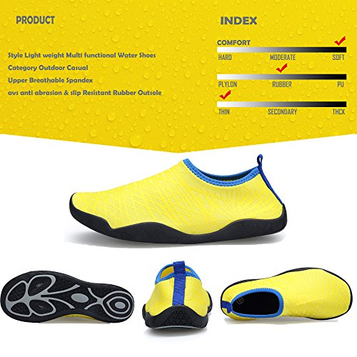 and Water Quick Sports Women's Lightweight Shoes SIKELO Men Yellow Dry EqwUAfZ