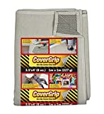 CoverGrip 35408/6 Canvas Safety Drop Cloth, Tan