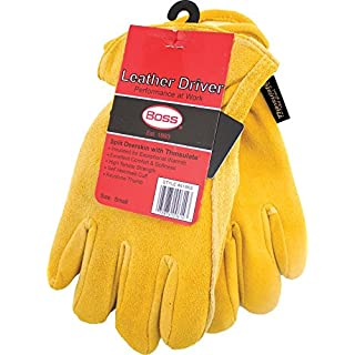 Boss Gloves 7186S Therm Insulated Split Deerskin Leather Driver, Small