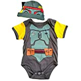 "Knitwits ""BabyFett Onesie and Hat Bundle Outfit (3-6 Months)"