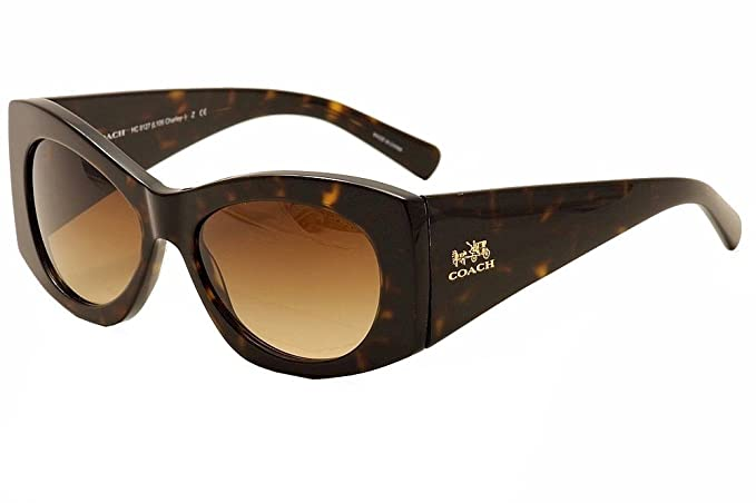 6201e172954f Image Unavailable. Image not available for. Colour: Coach L106 Charley  Sunglasses HC8127 512013 Dark Tortoise Brown ...