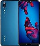 "Huawei P20 Dual Sim 128GB EML-L29 Pantalla 5.8"" Camara 20Mpx 4GB en Ram Libre de Fabrica Version Internacional, Azul"