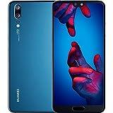"Huawei P20 EML-L29 128GB 4GB RAM, Dual SIM LTE, 5.8"", Full HD+ Display -Dual Camera 20 MP +12 MP, GSM Unlocked International Model, No Warranty (Blue)"