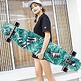DUWEN Skateboard Beginner Maple Longboard Teens Brush Street Dance Board Four-Wheeled Scooter