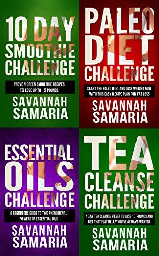 Smoothies: 4 in 1 Box Set Challenge: Paleo Diet+Essential Oils+Smoothie Cleanse+Tea Cleanse (FREE Bonus - Health Book Box Set) (Cat Crock Pot compare prices)
