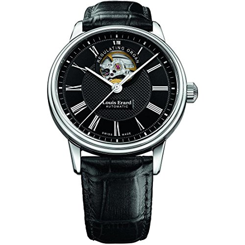 Louis Erard Heritage Collection Skeleton Swiss Automatic Black Dial Men's Watch 60266AA42.BDC82