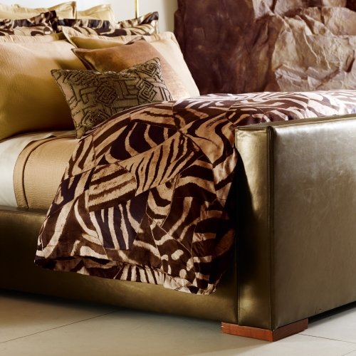 (Ralph Lauren Victoria Falls Full/ Queen Comforter Brown Cream)