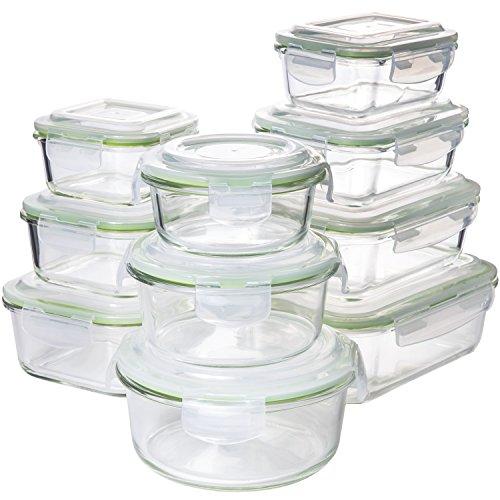 Zenware Comin18ju082710 20 Piece Microwave Safe Glass Food