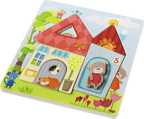 HABA Wooden Puzzle Bear House - 10 Piece Layered Puzzle for Ages 18 Months and ()