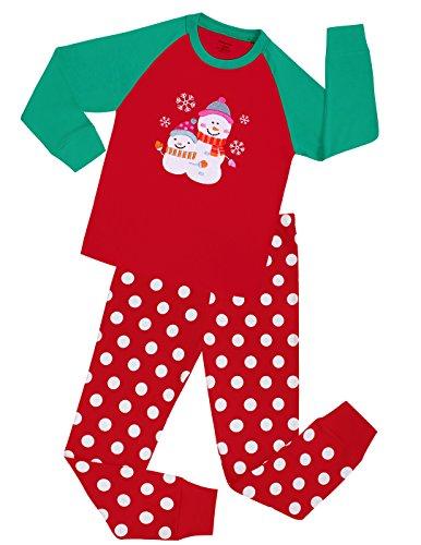 Size6M-8Y Elowel Little Girls Giraffe 2 Piece Pajama Set 100/% Cotton