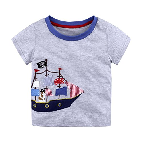 ARINLA Summer Newborn child baby girls boys short sleeve T shirt cartoon print ()