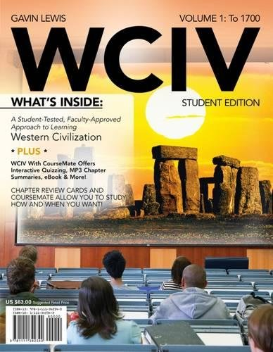 WCIV, Volume I (with Review Cards and History CourseMate with eBook, Wadsworth Western Civilization Resource Center 2-Semester Printed Access Card)
