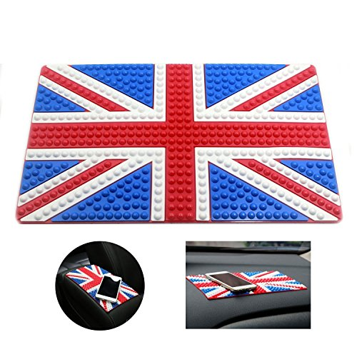 Sticky Car Pad, England Anti-Slip Mat Dashboard Mat - Holds Mobile Phone,Sunglasses,Keys and more (UK),Valentine's Day - Sunglass Uk