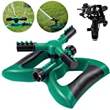 Best Impulse Sprinklers - Homemaxs Lawn Sprinkler 3 Arm with Impact Sprinkler Review