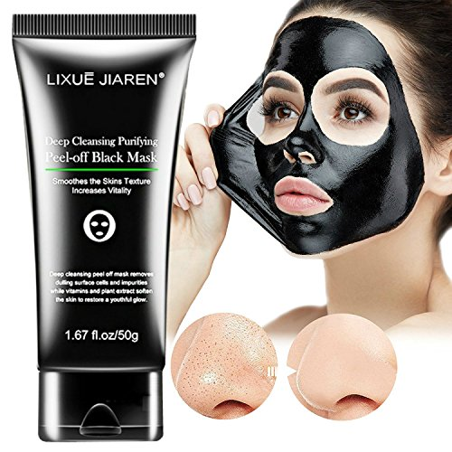 MIXSight Blackhead Remover Mask, Activated Charcoal Purifying Peel Off Mask Black Deep Cleansing Mud Face Mask For Acne Blackhead (1.67 fl.oz)