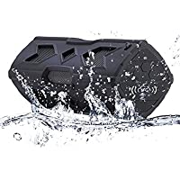 SunJet Bluetooth Speakers 4.0, 3D Surround Sound Stereo Wireless Speakers with Bluetooth, Waterproof Outdoor Sports/ Dustproof, Shockproof, with Built-in 3600mAh Rechargeable Battery 10-hour Playtime