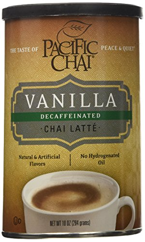 Pacific Chai Decaffeinated Vanilla Chai Latte Mix Canisters - 10 oz