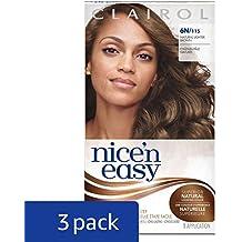 Clairol Nice 'n Easy Hair Color 115, 6N Natural Lighter Brown 1 Kit(Pack of 3)