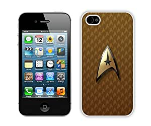 Case For iPhone 4 4S,Star Trek Logo 1 White iPhone 4 4S Case Cover