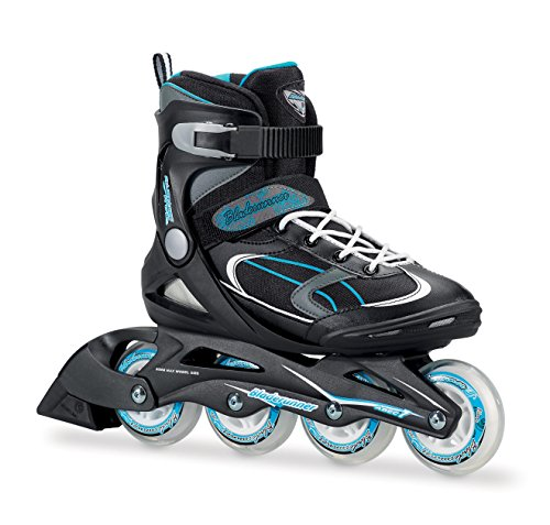 Bladerunner by Rollerblade Advantage Pro XT Women's Adult Fitness Inline Skate, Black and Light Blue, Inline (Women Outdoor Roller Skates)