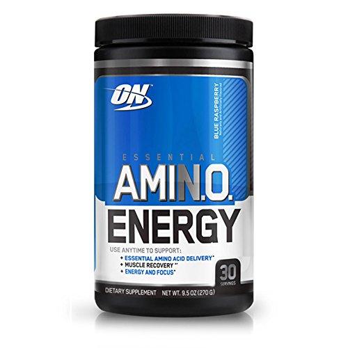 Optimum Nutrition Essential Amino Energy, Pack of Two 30 Servings (Blue Raspberry 2 x 30 servings)