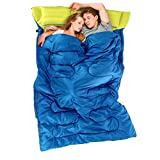 Naturehike Sleeping Bags Portable Outdoor Camping 2 People Sleeping Bag & Pillows & Inflator & Carrying Bag 3 Colors
