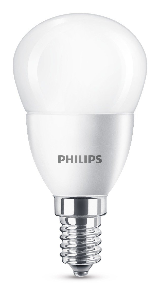 Philips LED E14 Small Edison Screw Mini Globe Light Bulb, 5.5 W ...