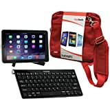 Navitech Converter Pack Including Multi OS Wireless Bluetooth Keyboard / Red Case Bag & Portable Stand For The ASUS Eee Pad Transformer TF101 / ASUS Eee Pad Transformer Prime TF201 / ASUS Transformer Pad TF300 / Asus Transformer Pad Infinity / Asus Transformer Pad TF701