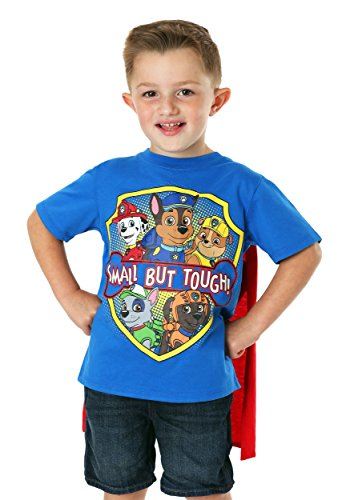 Paw Patrol Boy's Small But Tough T-Shirt with Cape 5T Blue]()