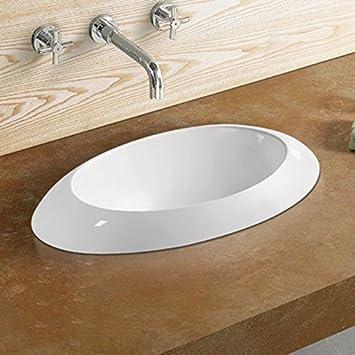 Vasque Semi Encastrable Ovale 60x34 Cm Céramique Loch
