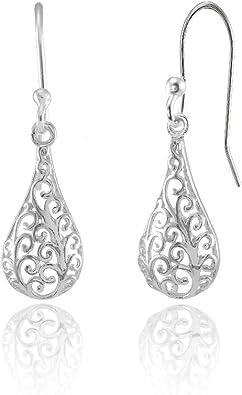 Silver Teardrop Dangle Earrings Modern Elegant Earrings Grey Sterling Silver Wires Charcoal Glass Drops