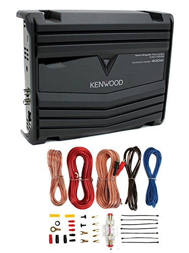 Kenwood KAC-5206 400W 2-Channel Class AB Car Audio Amplifier + 8 Gauge Amp (Cast Dash Mounting)